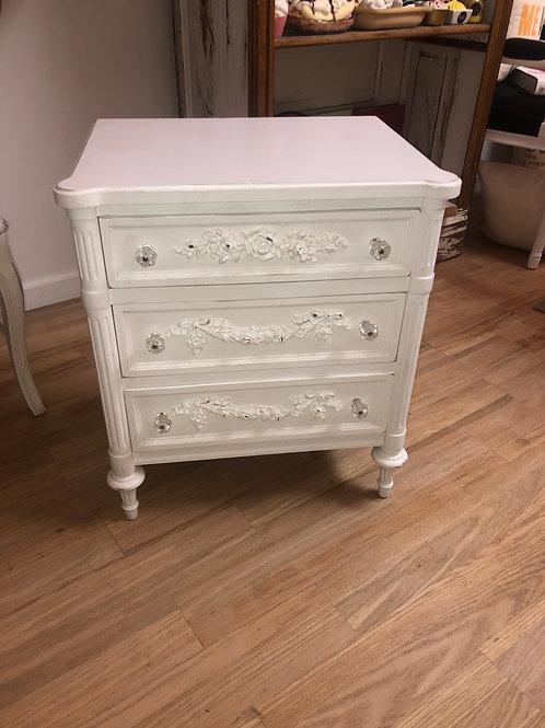 White 3 Drawer Table