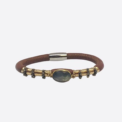 Aroma Bronze Leather Bracelet