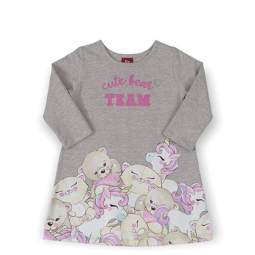 Cute Bear Team Grey Dress