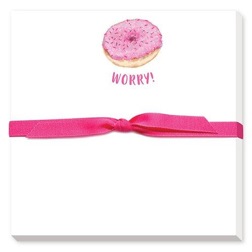Doughnut Worry Notepad
