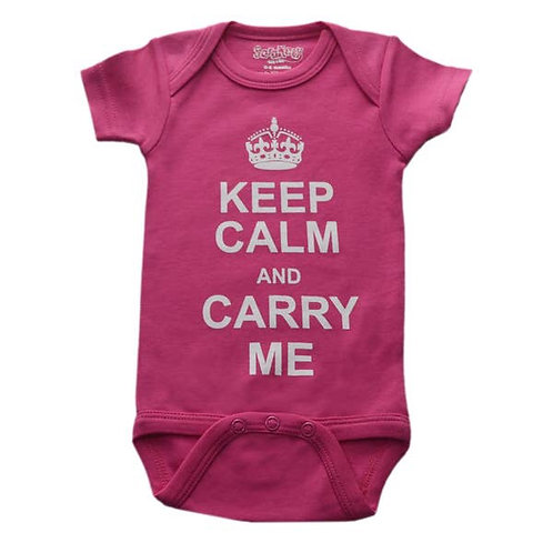 Keep Clam And Carry Me Pink Onesie