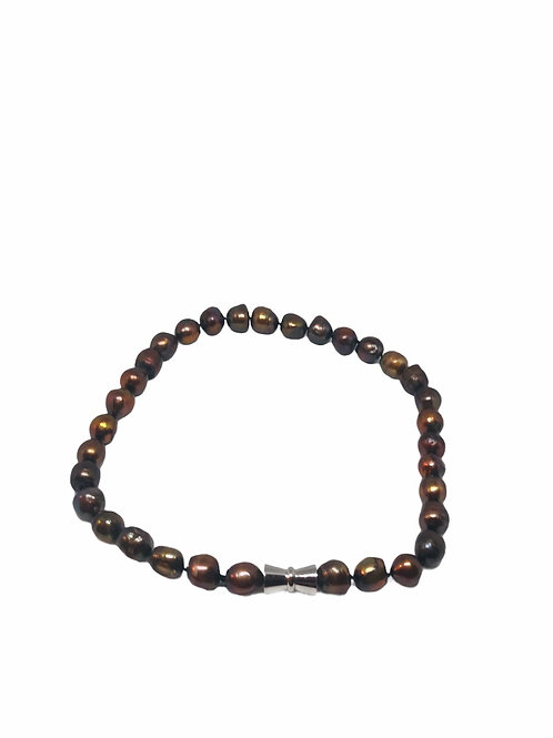 Chocolate Single Strand Pearl Necklace