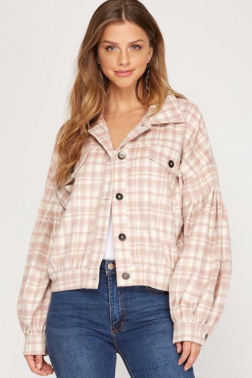Checkered Jacket Rose Pink