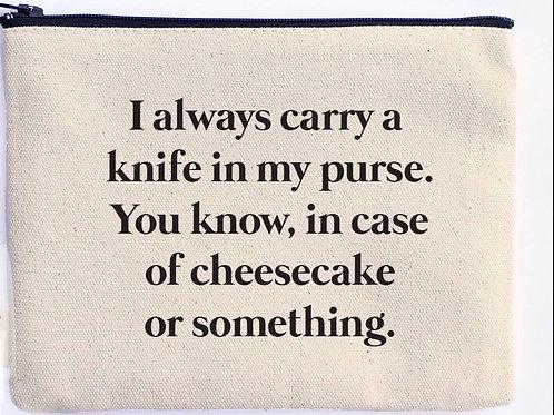 Cheesecake Knife In Purse Zipper Pouch