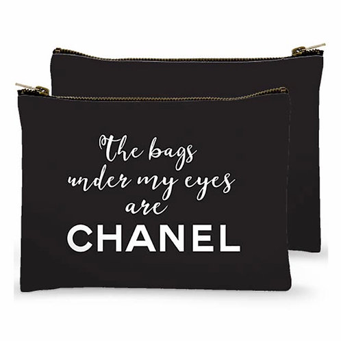 Zippered Bag - The Bags under my eyes are Chanel