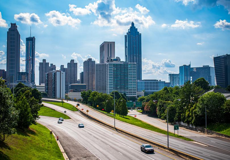 View from Jackson Street Bridge, Atlanta, GA