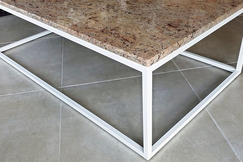 Ivory Brown Club Table