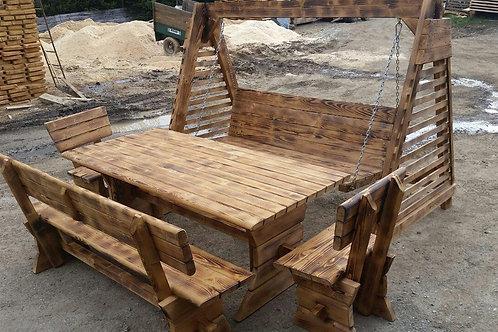 Gartenmöbel Set mit Schaukel