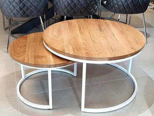 Two Oak white Club Table