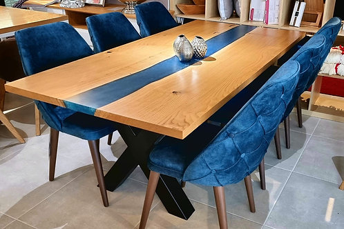 River blue Table