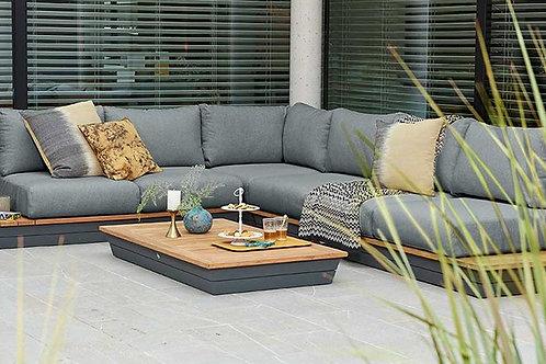 Orlando Aluminium & Teakholz Lounge Set