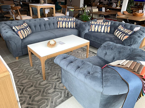 Barock Sofa Set 3er, 2er & 1er