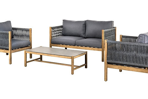 Java Holz & Schnur Lounge Set
