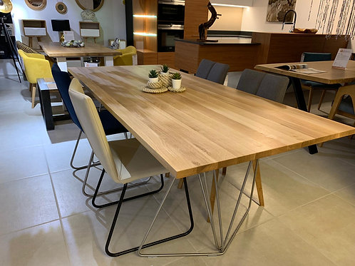 Stainless Oak Table