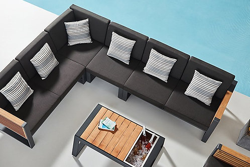 Champion Aluminium & Teakholz Lounge Set