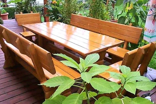 Gartenmöbel Set Rustikal 200cm