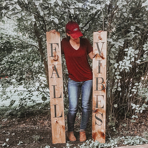 Fall Vibes Porch Sign