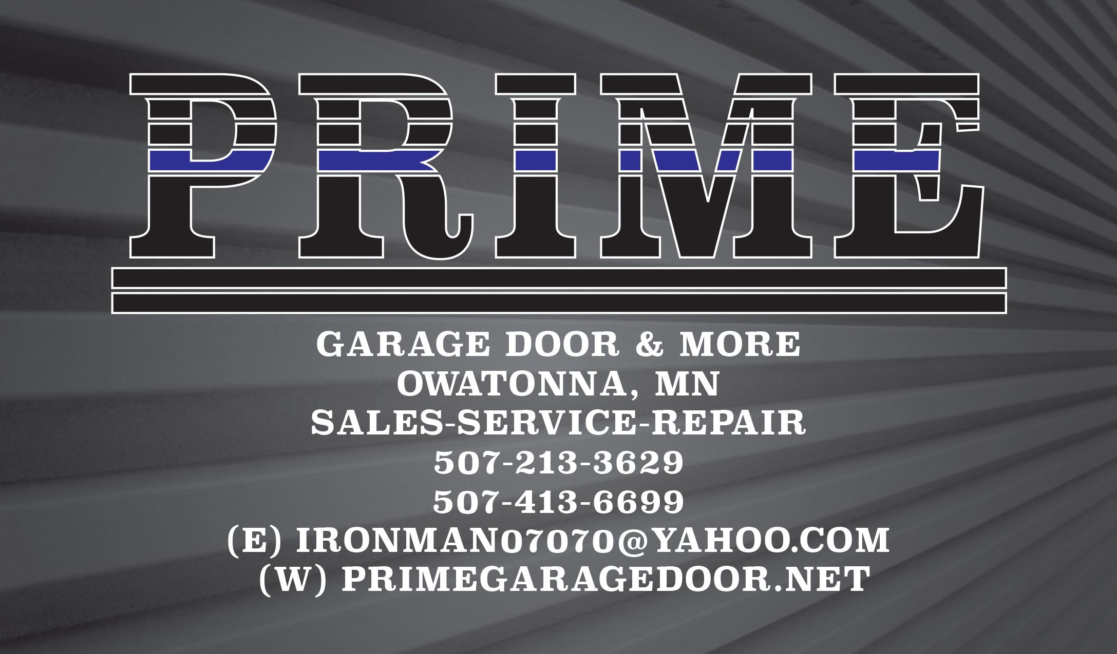 Prime garage door does installs repairs more in for Garage door repair minneapolis