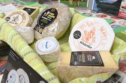 A lovely range of cheeses