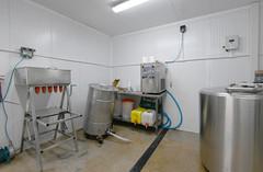 Milk processing room