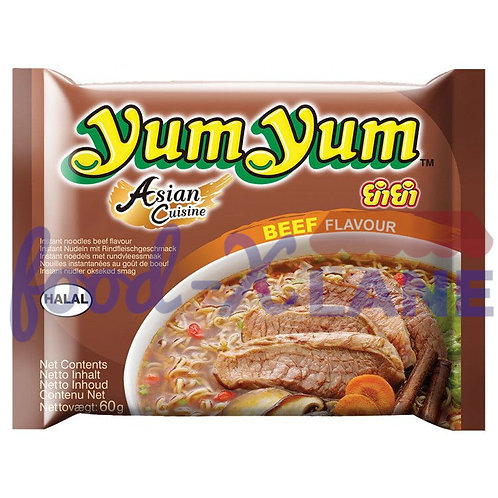 Yum Yum Instant Νoodles Βeef Flavour 60gr