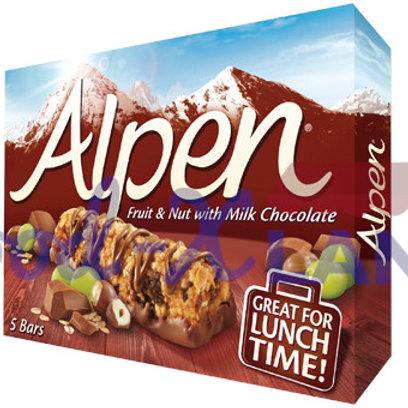 Alpen Cereal Bars Fruit & Nuts 145gr