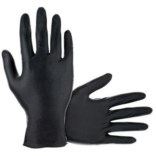 Gloves - large (black- nitrile) 100pcs
