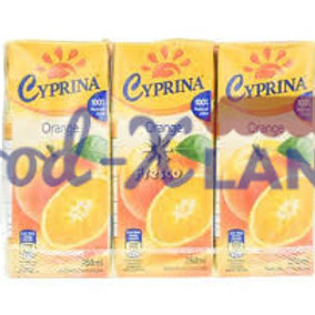 Cyprina Orange Juice 9x250ml