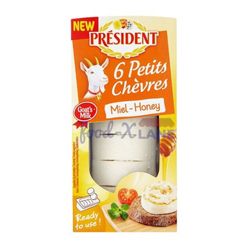 President Goat cheese with honey 100gr