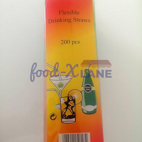 Straws Individual flexible multicolour 1x200s