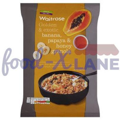 Waitrose Granola banana, papayia, honey 1kg