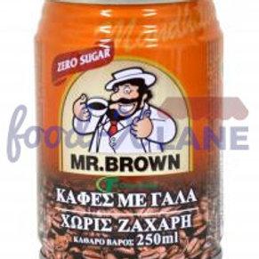 Mr Brown Mandheling with milk no sugar 250ml