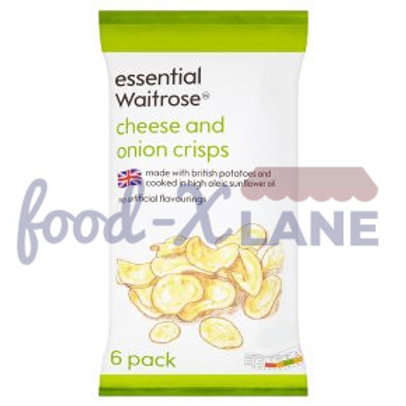 Waitrose Crisps Cheese and Onion 6X25gr