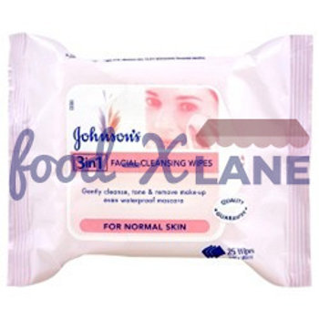 J&J Facial Cleansing Wipes 3 in1 1χ25s