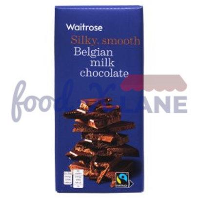 Waitrose Belgian milk chocolate 180gr