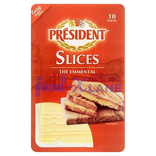President Emmental cheese slice 10pc 200gr