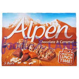 Alpen Cereal Bars Chocolate & Caramel 145gr