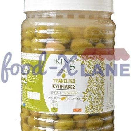 King Cyprus Green olives 1.3kg