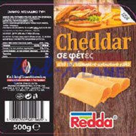 Redda Cheddar cheese slices 500gr