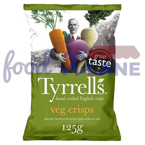 Tyrrell's Veg Crisps beetroot, parsnip, potato 100gr