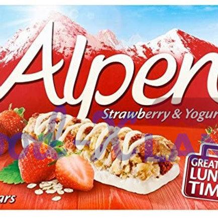 Alpen Μπάρες Δημητριακών με Φράουλες & Γιαούρτι 145gr