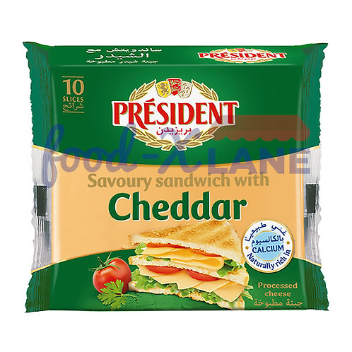 President Cheddar cheese slices 10pc 200gr