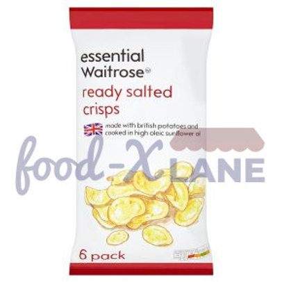 Waitrose Crisps ready Salted 6x25gr