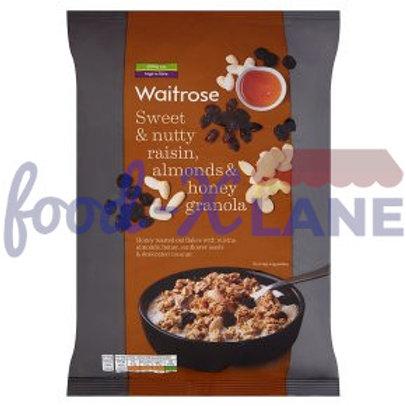 Waitrose Granola honey, raisin, almond 1kg