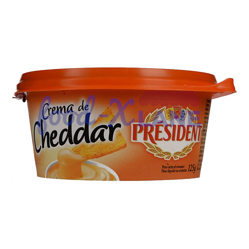 President Cheddar cheese spreadable 125gr