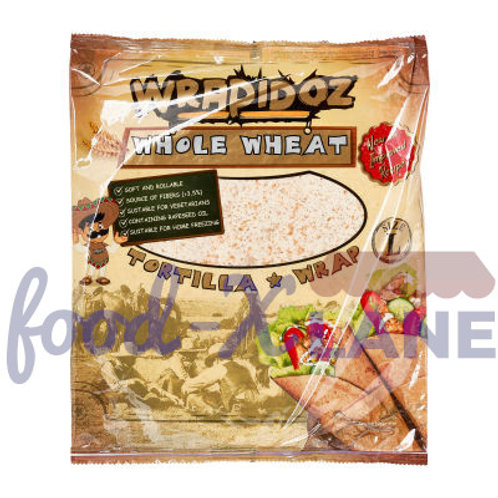 Wrapidoz Whole wheat tortilla 6sX25cm 370gr