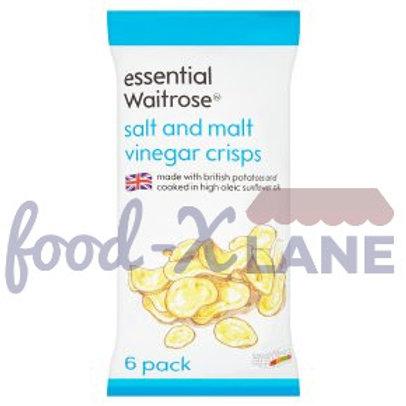 Waitrose Crisp Salt and Malt Vinegar 6x25gr
