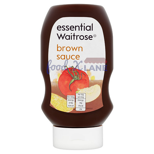 Waitrose Brown sauce squeezy top down 480gr
