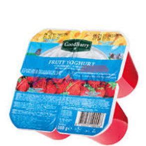 Goodburry Yoghurt strawberry-pineapple 125gr