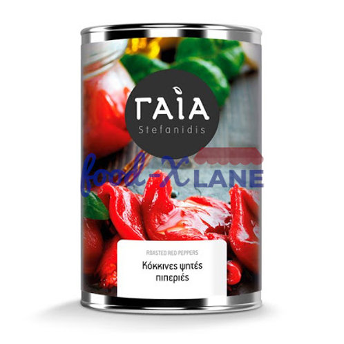 Gaia Roasted red peppers 473/358g